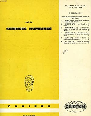 CAHIERS ORSTOM, SCIENCES HUMAINES, VOL. V, N° 3, 1968: COLLECTIF