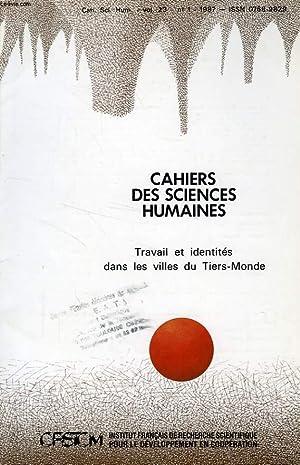 CAHIERS ORSTOM, SCIENCES HUMAINES, VOL. XXIII, N°: COLLECTIF