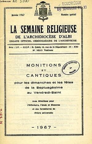 EGLISE D'ALBI / LA SEMAINE RELIGIEUSE DE L'ARCHIDIOCESE D'ALBI, 1967-1999 (...