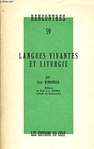 LANGUES VIVANTES ET LITURGIE: PAUL WINNINGER