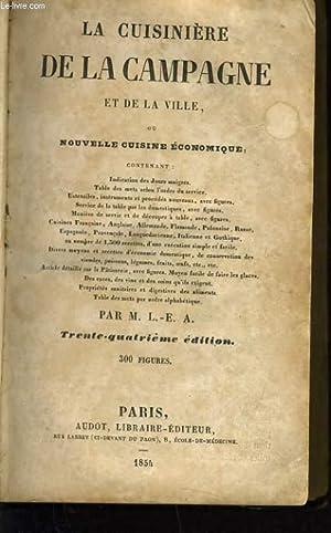 LA CUISINIERE DE LA CAMPAGNE ET DE: M. L.-E.A