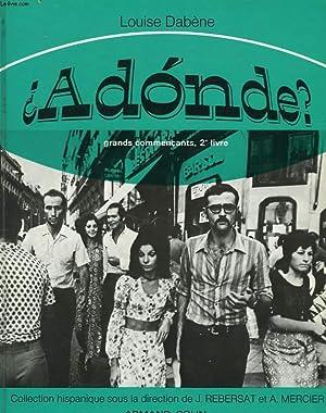 ADONDE ? GRANDS COMMERCANTS, 2e LIVRE.: LOUISE DABENE