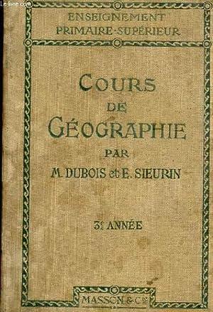 COURS DE GEOGRAPHIE. ENSEIGNEMENT PRIMAIRE-SUPERIEUR. 3EME ANNEE. LE MONDE (MOINS L'EUROPE) LE...