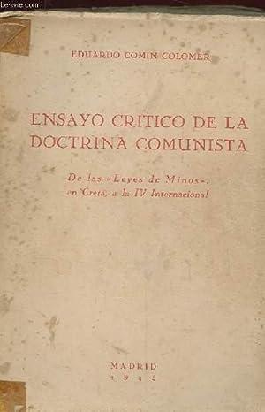 """ENSAYO CRITICO DE LA DOCTRINA COMUNISTA. DE LAS """"LEYES DE MINOS"""" EN CRETA A LA IV ..."""