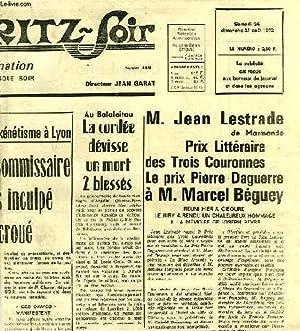 DOSSIER DE COUPURES DE JOURNAUX, LE PRIX DES TROIS COURONNES, 1972 (ARCHIVES DE PIERRE DAGUERRE): ...