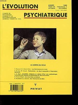 L EVOLUTION PSYCHIATRIQUE TOME 54 FASCICULE 4: COLLECTIF