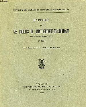 RAPPORT SUR LES FOUILLES DE SAINT-BERTRAND-DE COMMINGES (LUGDUNUM CONVENARUM) EN 1931: COLLECTIF