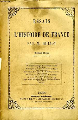 ESSAIS SUR L'HISTOIRE DE FRANCE: GUIZOT M.