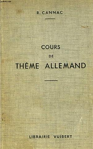 COURS DE THEME ALLEMAND: R. CANNAC