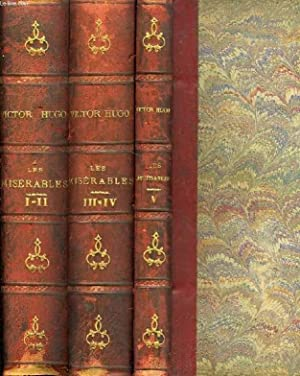 LES MISERABLES, 5 TOMES (EN 3 VOLUMES): HUGO Victor