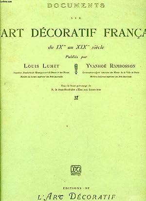 DOCUMENTS SUR L'ART DECORATIF FRANCAIS DU IXe: LUMET LOUIS, RAMBOSSON