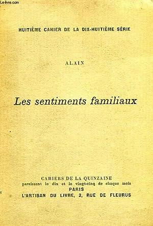 LES SENTIMENTS FAMILIAUX: ALAIN