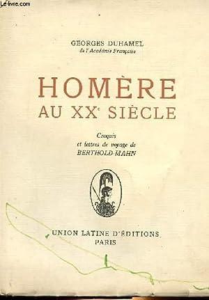 HOMERE AU XXe SIECLE: GEORGES DUHAMEL