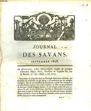 JOURNAL DES SAVANS. SEPTEMBRE 1828. LE GOUPILLON, POEME HEROÏ-COMIQUE, TRADUIT DU PORTUGAIS D&...