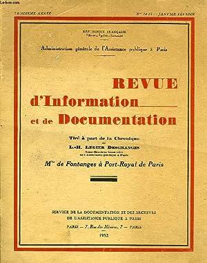 REVUE D'INFORMATION ET DE DOCUMENTATION, 3e ANNEE,: LEGIER DESGRANGES L.-H.