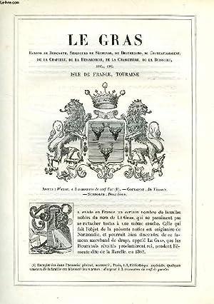 ARMORIAL DE LA NOBLESSE DE FRANCE, EXTRAIT: LE GRAS: GENNES VICOMTE E. DE, NIVOLEY LEOPOLD