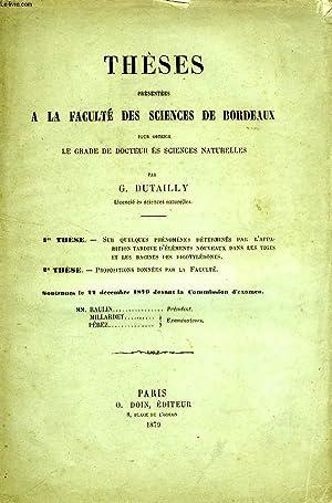 THESES PRESENTEES A LA FACULTE DES SCIENCES DE BORDEAUX POUR OBTENIR LE GRADE DE DOCTEUR ES ...