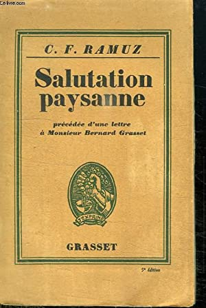 SALUTATION PAYSANNE.: RAMUZ C.-F.