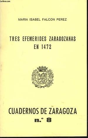 CUADERNOS DE ZARAGOZA N°8, 1976.TRES EFEMERIDES ZARAGOZANAS: MARIA ISABEL FALCON