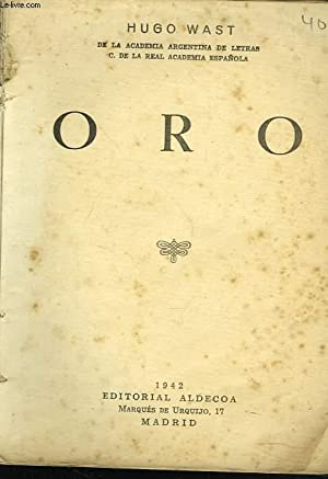 ORO: HUGO WAST