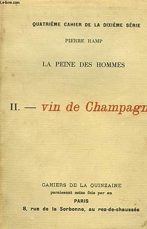LA PEINE DES HOMMES. II. VIN DE: PIERRE HAMP