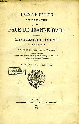 IDENTIFICATION DES NOM ET SURNOM DU PAGE DE JEANNE D'ARC, A PROPOS DE L'APETISSEMENT DE ...