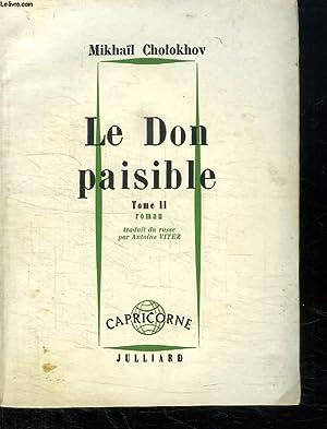 LE DON PAISIBLE. TOME 2.: CHOLOKHOV MIKHAIL.