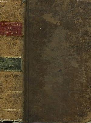 DICTIONNAIRE ANGLOIS-FRANCOIS. 18e EDITION. TOME SECOND à laquelle on a joint : La ...