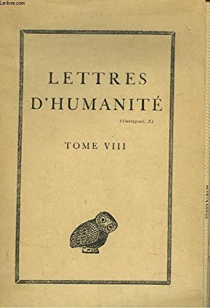 "ASSOCIATION GUILLAUME BUDE. ""LETTRES D'HUMANITE"" TOME VIII.: COLLECTIF"