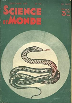"SCIENCE ET MONDE N°186, SEPTEMBRE 1935. LA TECHNIQUE VIVANTE VISITE ""NORMANDIE"" &#x2F..."
