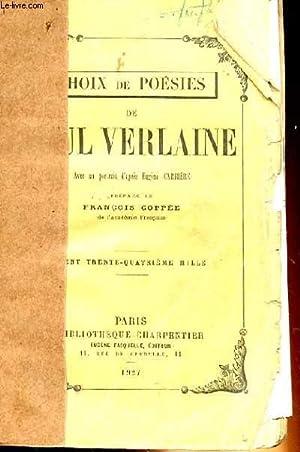 CHOIX DE POESIE: PAUL VERLAINE