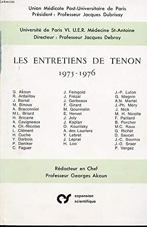 LES ENTRETIENS DE THENON 1975-1976: JACQUE DEBRAY