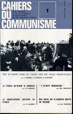 CAHIERS DU COMMUNISTE N°1 : Pour un: LEO FIGUERES directeur
