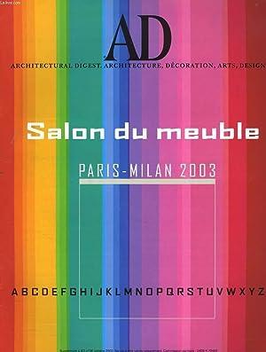 AD, ARCHITECTURAL DIGEST. SALON DU MEUBLE PARIS-MILAN: COLLECTIF