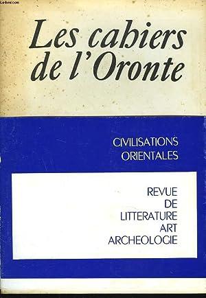 LES CAHIERS DE L'ORONTE N°8, 1970-1971. LIBAN: LODY AOUEISS (DIRECTRICE)