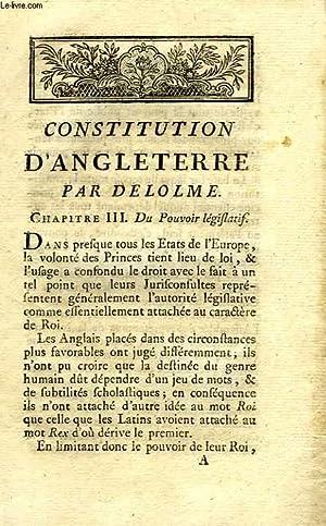 CONSTITUTION D'ANGLETERRE: DELOLME