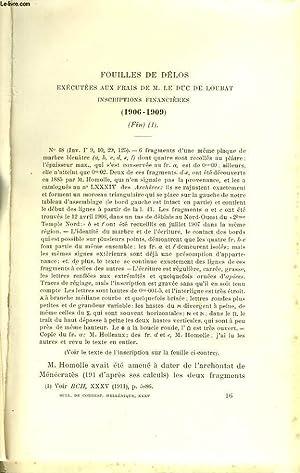 BULLETIN DE CORRESPONDANCES HELLENIQUES V-XII. 35e ANNEE,: COLLECTIF