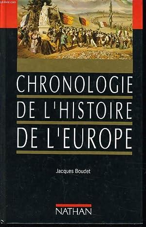 CHRONOLOGIE DE L'HISTOIRE DE L'EUROPE: JACQUES BOUDET