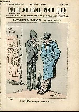Petit journal pour rire N°70 de la 3è série, Fantaisies parisiennes par Gr&eacute...