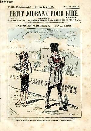 Petit journal pour rire N°110 de la 3è série, Fantaisies parisiennes par Gr&...