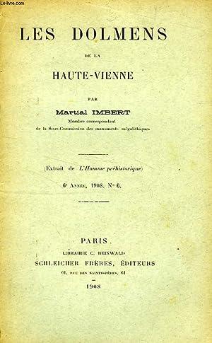L'HOMME PREHISTORIQUE, 5e ANNEE, N° 8, AOUT 1907 (EXTRAIT), NOTES SUR LA TENE, LES DOLMENS...