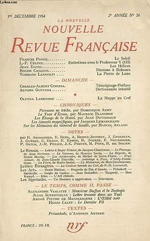 LA NOUVELLE REVUE FRANCAISE DEUXIEME ANNEE N°24: COLLECTIF