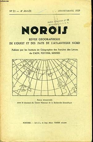 NOROIS (revue géographiques de l'Ouest et des pays de l'Atlantique Nord) n°21 ...