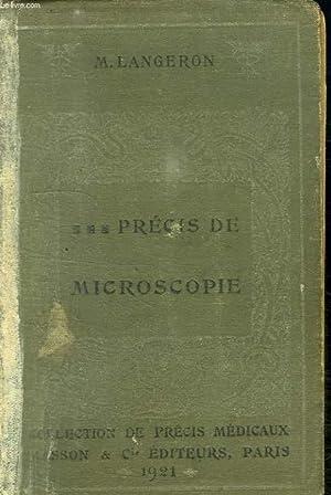 PRECIS DE MICROSCOPIE.: LANGERON M.