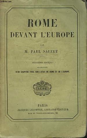 ROME DEVANT L'EUROPE: M. PAUL SAUZET