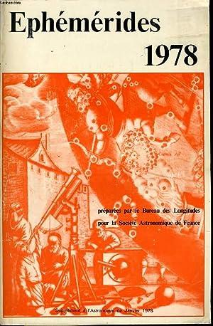 ANNUAIRE DU BUREAU DES LONGITUDES EPHEMERIDE 1978 supplément à l'astronomie de ...