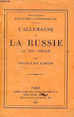 L'ALLEMAGNE ET LA RUSSIE AU XIXe SIECLE: SIMON EDOUARD
