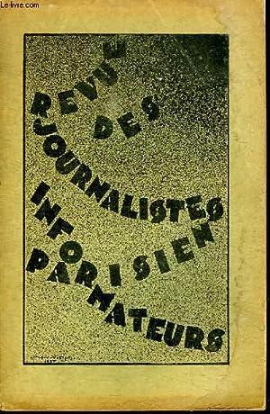 REVUE DES JOURNALITES INFORMATEURS PARISIEN. N° 12.: COLLECTIF.