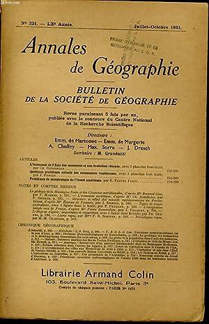 ANNALES DE GEOGRAPHIES bulletin de la société géographique) n°321 : L&#x27...