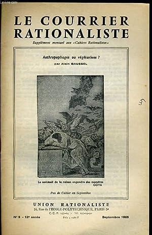 LE COURRIER RATIONALISTEn°9 : Anthropophages ou végétariens ?: G. CHOTIAU ...